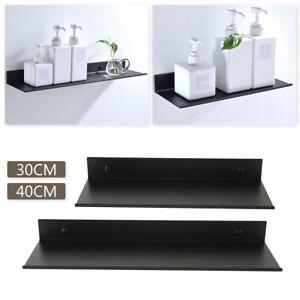 Floating Shelf Brackets Towel Rail Rack Display Shelves Wall Mount Bathroom