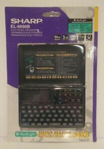 SHARP Electronic Organizer EL-6690B 64KB Data Bank Memo Master Alarm NEW IN BOX