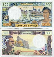 FRENCH PACIFIC TERRITORIES 500 FRANCS ND 1996 P 1 h SIGN SEZE NOYER BESSE UNC