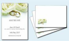 White Wedding Save the Dates