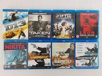 Luc Besson Blu Ray 9 Movie Bundle Fifth Element Nikita Transporter Trilogy Taken