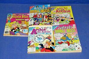 3 ARCHIE'S 1 JUGHEAD 1 RICHIE RICH 1990 - NEWSTAND NEW 5 DIGEST COMICS