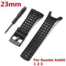 23mm Silicona Caucho reloj banda correa Watch Band Strap para Suunto Ambit 1 2 3