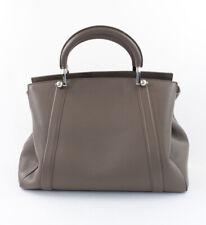 Moynat Authentic Taupe Leather Satchel Handbag Mint