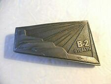 USAF B-2 Stealth Bomber Pewter Belt Buckle, USA 1988