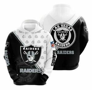 Las Vegas Raiders Fans Hoodies Unisex Pullover Hooded Sweatshirt Casual Jacket