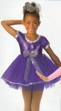 Plum Perfect Dance Costume Baby Tap Dress and Bows Ballet Clearance Child Small