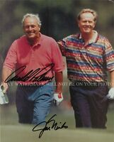 ARNOLD PALMER AND JACK NICKLAUS SIGNED AUTOGRAPH AUTO 8x10 RP PHOTO GOLF LEGENDS