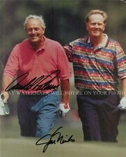 ARNOLD PALMER AND JACK NICKLAUS SIGNED AUTOGRAPHED 8x10 RP PHOTO GOLF LEGENDS