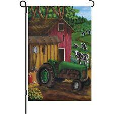Tractor on the Farm Garden Size Flag PR 51345