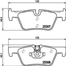 Hella Pagid Rear Brake Pads - DB2224H fits BMW 3 Series F30, F80 328i 320d 320i