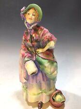 "Unique! Royal Doulton Figurine HN1515 Dolly Vardon - 8 1/4""H Green/Red/Lavender"
