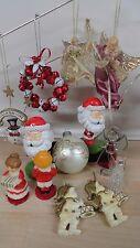 Christmas ornaments lot  2 bobblehead Santa and more