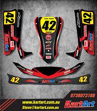Arrow X1 Junior / Cadet go kart full custom KART ART sticker kit THUNDER STYLE