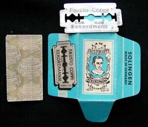 1950s Italy advertising cycling rare razor blade FAUSTO COPPI Azzurro
