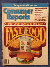 CONSUMER REPORTS JUNE 1988 FAST FOOD AIR TRAVEL ROAD TESTS SUNSCREEN