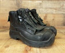 Haix Airpower R8 Boots EMS Station Ankle Zip Steel Toe Work Black 5