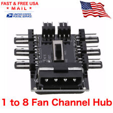 MOLEX Fan 1 to 8 Channel Hub 12V 4 Pin IDE Power Supply Splitter Adapter PC Fan