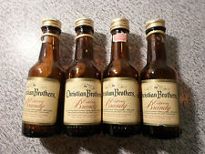 (4) Vintage Mini Liquor Bottles  Christan Brothers  empty