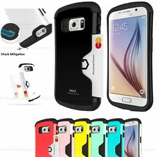 Rigid Plastic Mobile Phone Cases, Covers & Skins for Samsung with Card Pocket