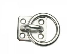 Eyeplate with Ring Stainless Steel A4 Polished 40mm x 35mm Arbo-inox