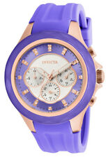 Invicta Angel 22678 Women's Round Lavender Analog Crystal Silicone Watch