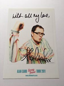 """Alan Carr Hand Signed """"Spexy Beast """" Stand Up Tour Print 2011 Official Merch"""