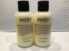 2 Philosophy Purity Made Simple One Step Facial Cleanser 4 oz / 120 ml ea SEALED