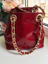 Russell&Bromley RED Quilted Patent  Women Handbag