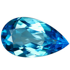 7.14Cts Deluxe Pear Shape Natural Swizz Blue Topaz 16.5x9.6mm Loose Gemstone