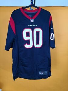 Houston Texans NFL Reebok Mens on Field Jersey Sz M CLOWNEY