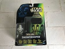 KENNER1997 STAR WARS DELUXE SNOWTROOPER w/BLASTER CARDER FIGURE NEVER OPENED MIB
