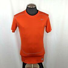 Nike Pro Combat Men's Compression Dri-Fit Orange Shirt Top Size Large L