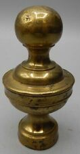 Small Antique 18th Century Seamed Brass Finial - Bed Post Stove or Other