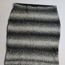 Lane Bryant Womens  BLACK/Grey/White Knitt PLUS SKIRT Size 14/16 PLUS