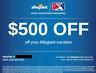 Allegiant Airlines Voucher ($500 value) exp. 8/8/2020