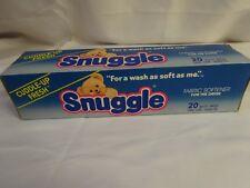 Vintage 80s Snuggle Drier Sheet Box Cuddle Fresh 1/2 Full Display Decor 1983