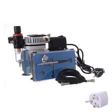 Mini Compresor Aerógrafo Profesional Y Regulador De Filtro Kit con ventilador de refrigeración