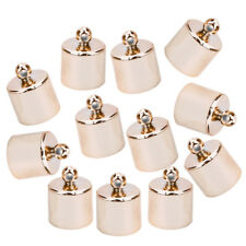 24 PCS  x Silver or Gold Plated Necklace Cord End Tip Caps 3.5x9mm C39