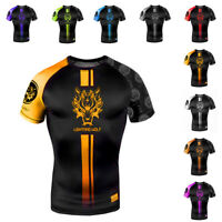 Summer Combat Uniforms Men's Short Sleeve Ventilating Thai Boxing Training Shirt