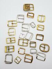 Vintage Lot of 23 Various Sizes Brass Bronze Belt Buckles for Leathercrafts