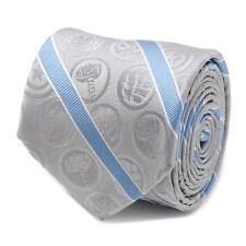 Marvel Marvel Comics Grey and Blue Stripe Men's Tie, Officially Licensed
