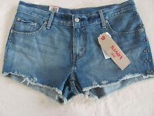 Levi's Denim Shortie Shorts -Cut Offs- Metal Studs-Destroyed- Size 31 -NWT $39