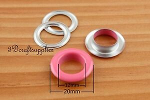 eyelets metal with washer grommets copper round 60 sets 12 mm CK82