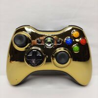 Microsoft XBOX 360 Chrome Gold Series Star Wars Edition C3PO Wireless Controller