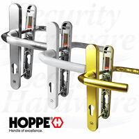 Hoppe Birmingham Pair Door Handle Set 92PZ 92mm Sprung Lever UPVC 122mm 215mm