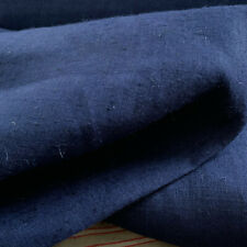 Vintage Indigo Linen by the Yard French Bolt upholstery Heavy Hemp Work Fabric