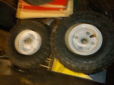 2 10 in. Haul-Master Pneumatic Tire on White Wheel - 4.10/3.50-4 Knobby Tread