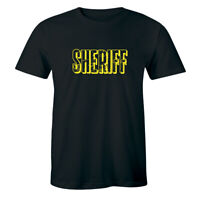 Sherrif - Outlaw Prison Biker Thug Criminal Villain Life Men's T-shirt Tee