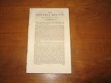 1815 Monthly Review Edmund Burke, Sismondi, Aeschylus, Butler, Lord Thurlow, ETC